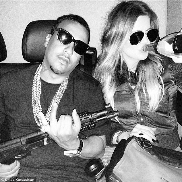 Bad influence? The reality star sent shock waves over the internet when she posted this snap on June 1 that showed her swigging champagne from the bottle and French holding a gun