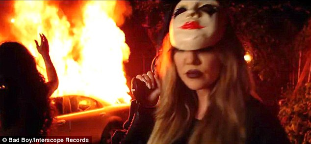 Another side of Khloe: The stunning Kardashian showed how menacing she can be in the short video