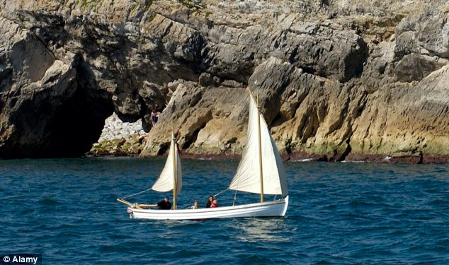 The three sailors were in a Drascombe Lugger, similar to the one pictured, on a trip around the bay when it ran into trouble last night. Friends of the sailors sounded the alarm at around 7pm when they failed to return