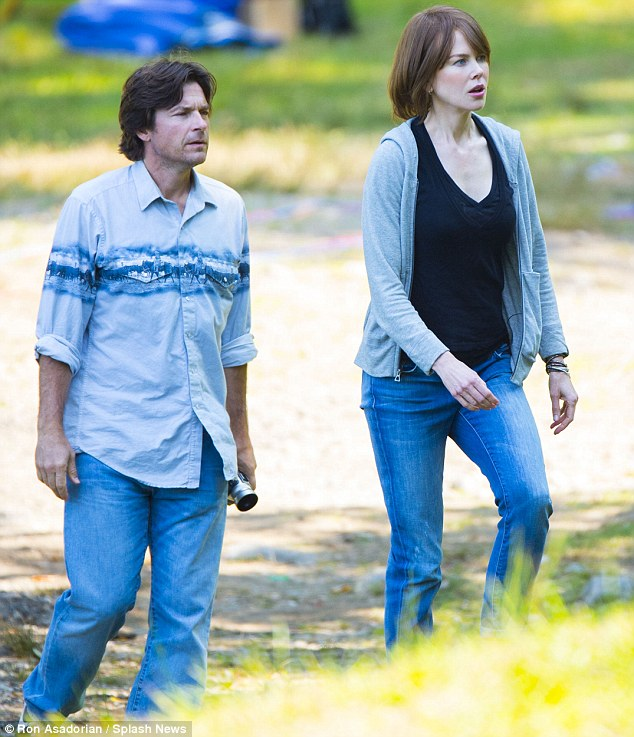 In cinemas soon: The handsome pair were shooting The Family Fang