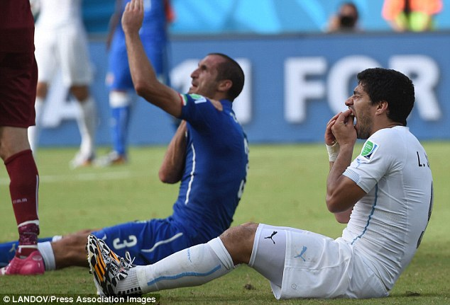 Punishment: Although Suarez didn't even receive a booking during the match, he was later banned by FIFA