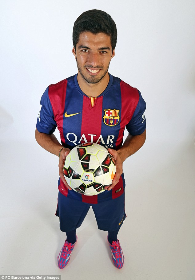 Pleasing: Suarez will now be free to train with his team-mates and participate in friendlies before his ban ends
