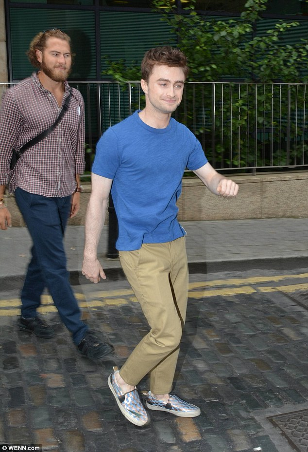 Has the Harry Potter actor been casting spells on his hair? His style looked considerably lighter
