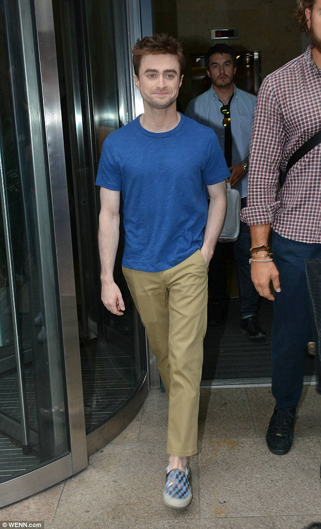 Popular guest: The acclaimed actor was greeted by fans at the radio station headquarters