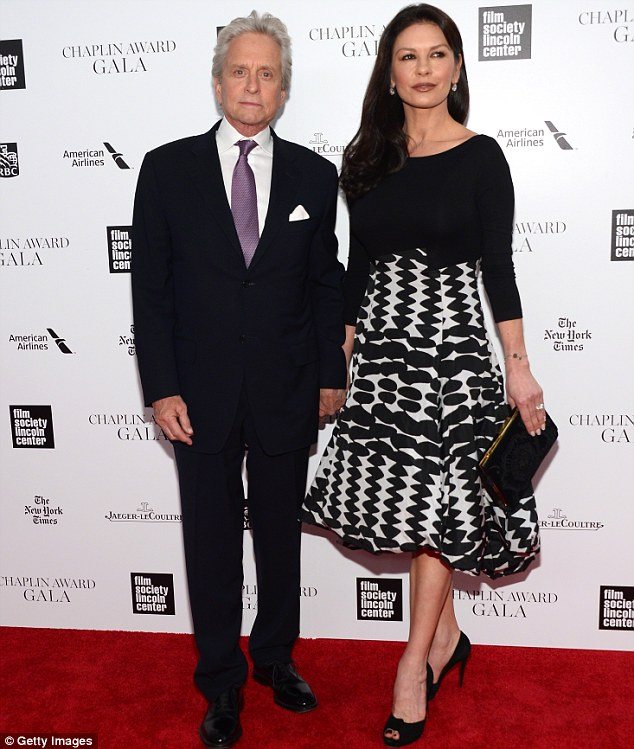 Reconciliation: Zeta-Jones and her 69-year-old husband Michael Douglas made their first joint public appearance together in April