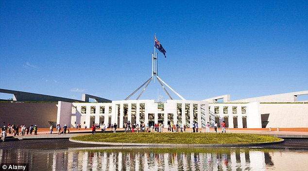 Canberra, ACT has the highest paid weekly wages in Australia. (insert) Parliament House