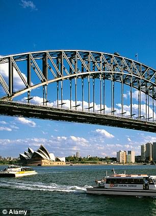 Sydney Harbour bridge, Opera House, NSW. Third highest wages.