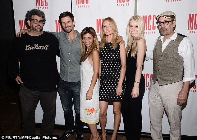 The cast and creators: Actors Frederick Weller, Callie Thorne, Graham, Gia Crovatin, pictured with writer Neil Labute and director Terry Kinney