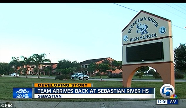 Cut short: The Sebastian River High School football team returned from camp early following Shogran's death. Grief counselors were on-hand for staff and students