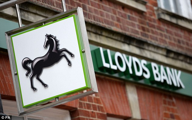 Cut throat: Staff at Lloyds, Britain's biggest bank, face losing bonuses or their job if they don't meet targets
