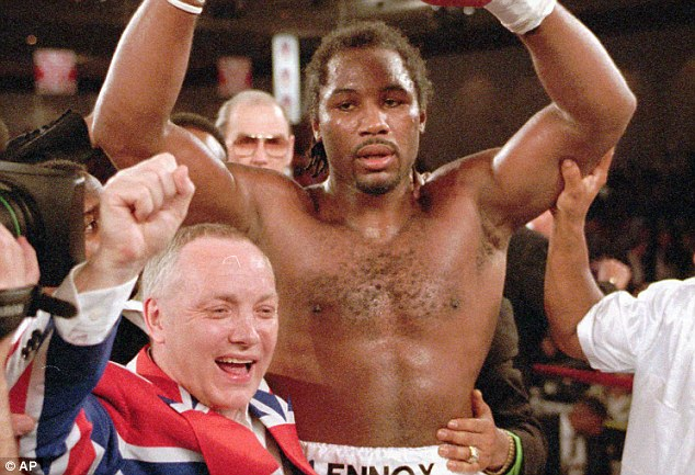 Frank Maloney, former boxing promoter, pictured with heavyweight champion Lennox Lewis after victory