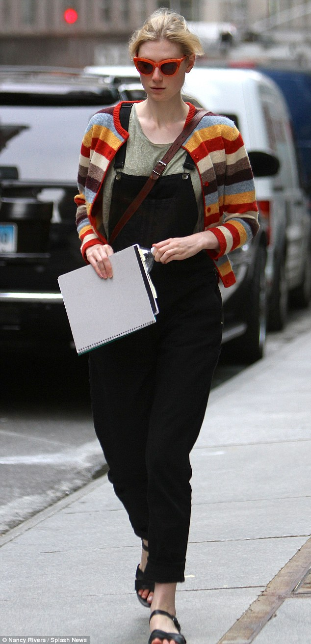 Work abroad: The Australian actress is presently in The Big Apple performing in the play The Maids alongside Cate Blanchett