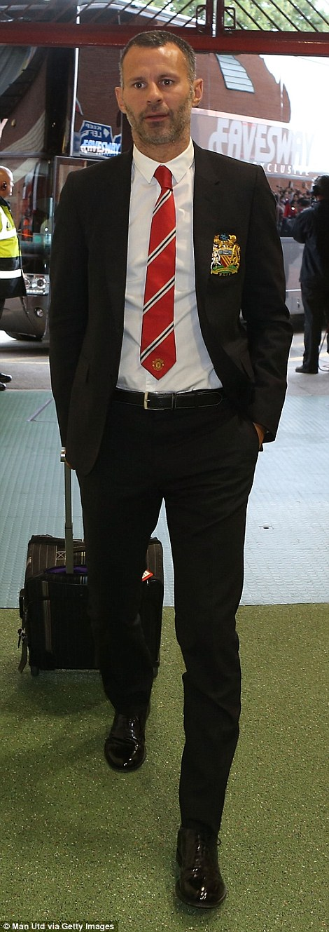 Retired: Giggs stopped playing at the end of last season but has remained at United as Van Gaal's assistant
