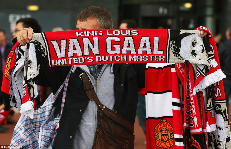 The chosen one: Van Gaal was popular with United fans before the gamebut that could change if results go against his side