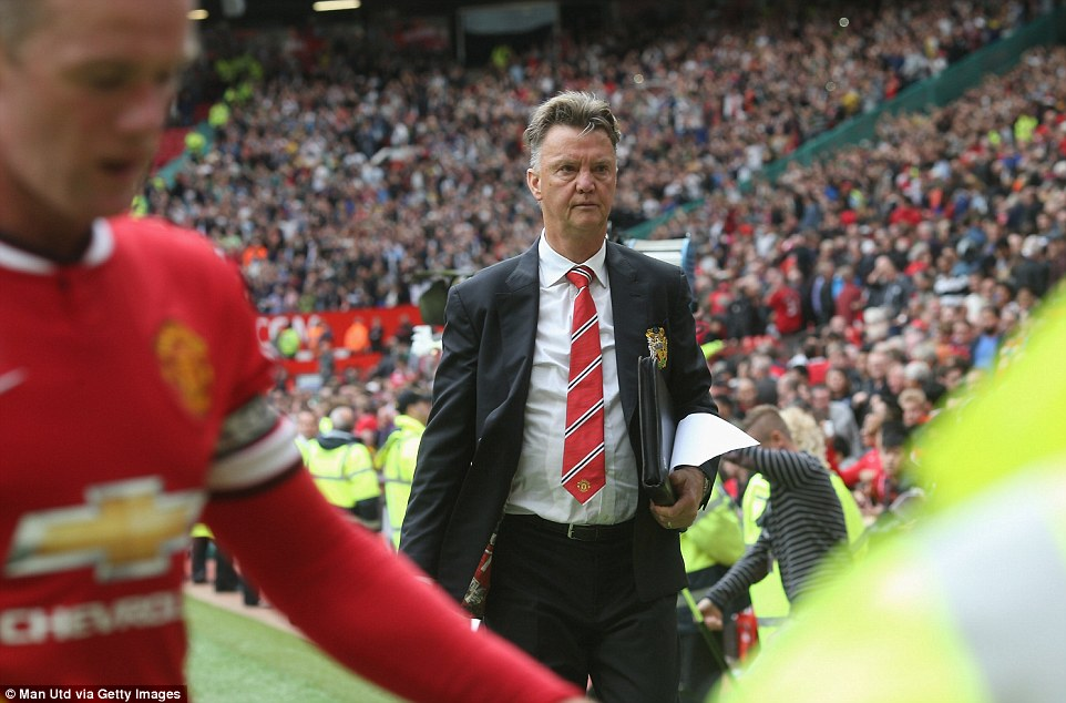 Nightmare start: Louis Van Gaal's Manchester United team suffered a 2-1 defeat in the Dutchman's first match in charge of the club