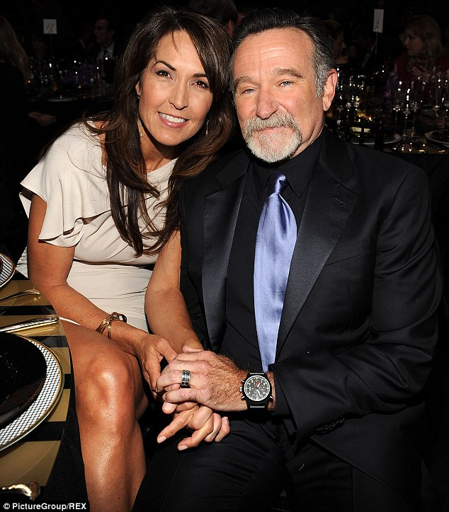 Death: Robin Williams, 63, was found dead in his California home this week. He is pictured above with his wife Susan Schneider