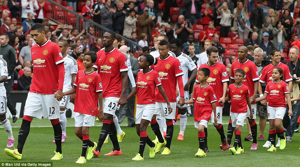 Unfamiliar faces: Van Gaal's team selection surprised a few people by naming Tyler Blackett and Jesse Lingard in the starting 11 for Saturday's match