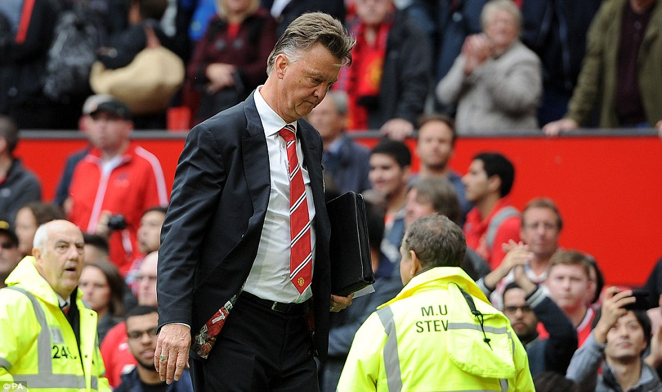 Much to ponder: Van Gaal is left to consider where it went wrong for his side in their opening day reverse and which players he should sign