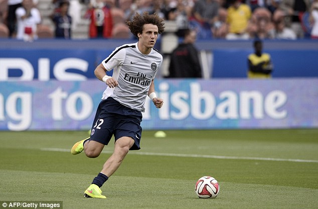 Competitive debut: David Luiz played the full 90 minutes on his first Ligue 1 match against Bastia