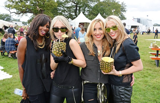 Back together: All Saints enjoyed the free cocktails after reuniting onstage at the event