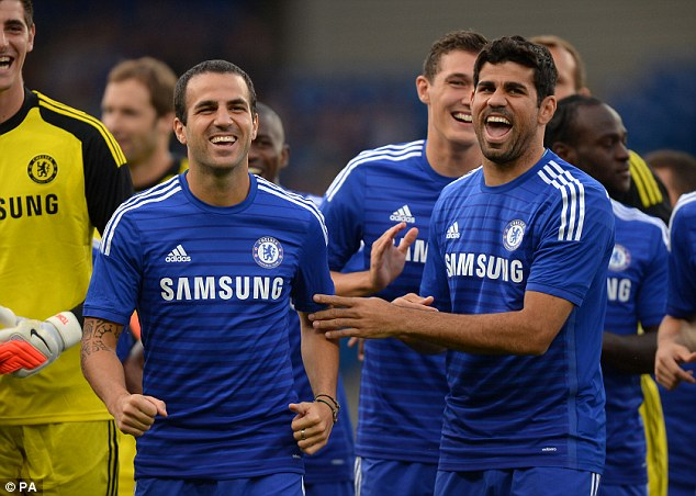 Balls: Cesc Fabregas and Diego Costa are 'men' says Jose Mourinho, and will help win Chelsea the league