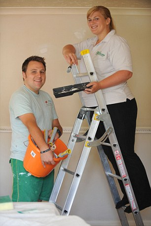 Weekend workers: Dean Fletcher and Katie Punter say decorating is time well spent