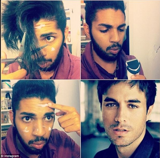 Spot on: The craze is picking up countless followers under the hashtag #MakeupTransformation
