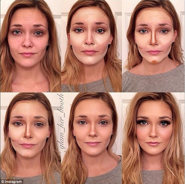 Popular: Makeup transformations, where women overhaul their look in a few simple steps, have become increasingly popular over the years
