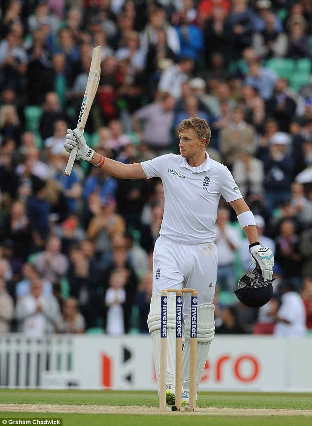 Commanding: Root's stunning knock ended any chance of India winning the Test