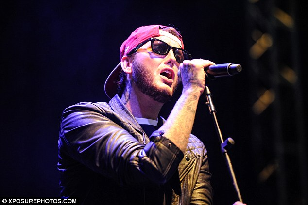 Loving it: 'Great show!! Beautiful crowd!! Thanks to all who came to see our set today at V! #VFestival #LOVE,' James Arthur tweeted after his performance