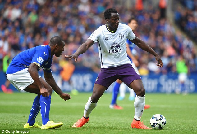 Responsibility: Romelu Lukaku was pressed into a full 90 minutes of action against Leicester