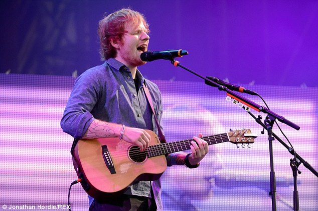 Sing it! Ed Sheeran's dreamy vocals received rave reviews