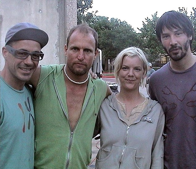 Spinning tales: In 2007, Amanda Grimes moved out to California, where she presented herself as a screenwriter. To bolster her credentials, she would show new acquaintances in Hollywood a photo of herself posing with actors Woody Harrelson, Keanu Reeves and Robert Downey Jr on the set of A Scanner Darkly