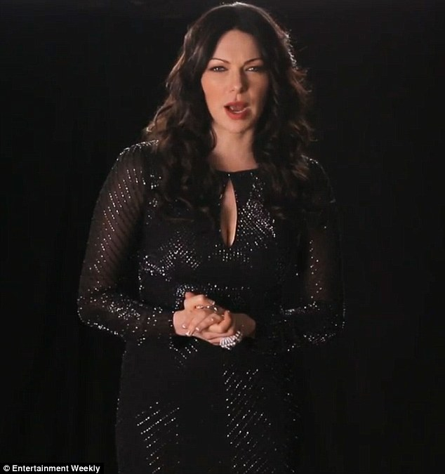 Back in black: Orange Is The New Black star Laura Prepon made the suggestion of keeping hydrated by drinking Gatorade or even cleaning product Windex