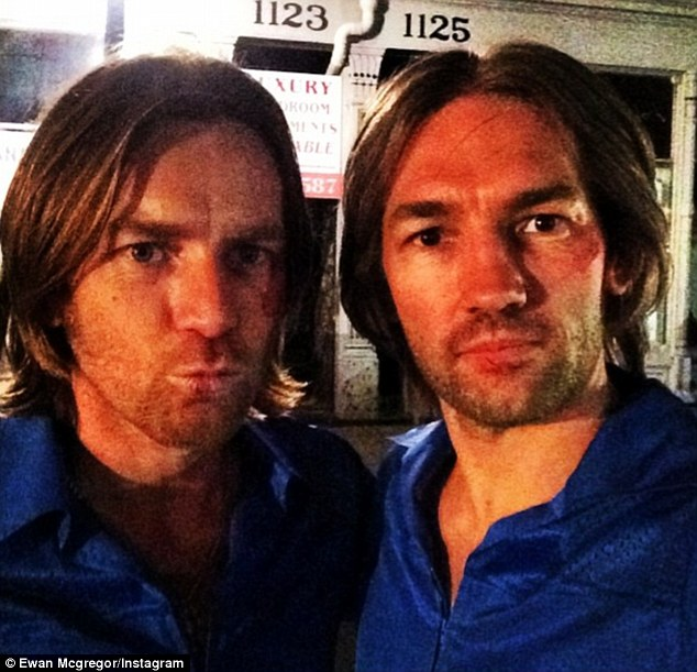 Famous faces: Nash has worked as Ewan McGregor's stunt double for over 14-years on eight separate films and the pair are close friends