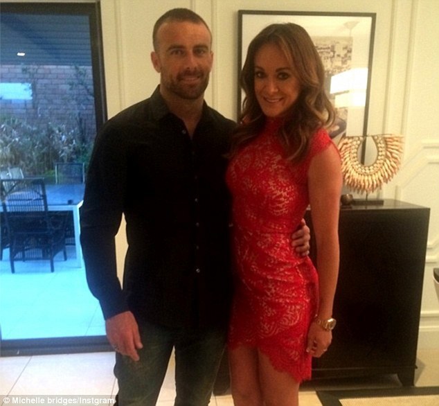 Date night: The pair regularly posted snaps of their romance and on June 19 Biggest Loser's Michelle shared of them with the caption 'looking forward to a date night'
