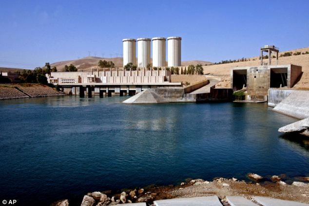 The dam, located on the Tigris river, supplies electricity and water for irrigation to northern Iraq