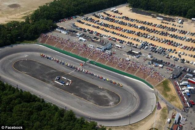 The crash happened at the Wall Stadium Speedway in New Jersey at around 12.30pm on Saturday