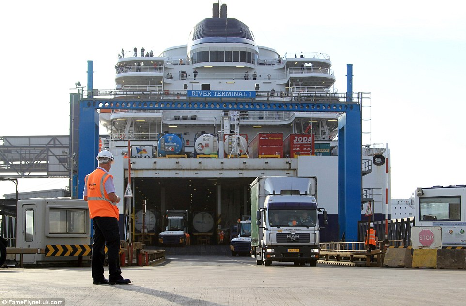 Victor was driven to a ferry port in Holland so he could begin his journey to Britain