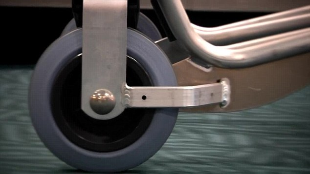 Video shows the 'dual composite rubber wheels' as one of the redeeming features of the new trolley