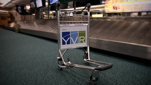 The Vancouver International Airport trolley in all its glory. You can even take it for a 'test drive'