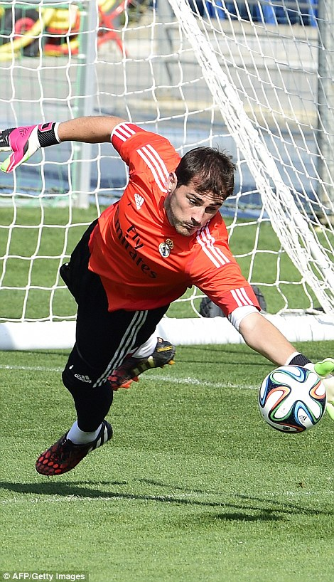 Competition: Goalkeepers Iker Casillas and Keylor Navas are set to face off for the No 1 jersey at Real Madrid this season