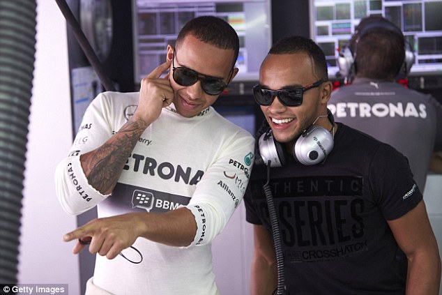 Ground breaker: Nicolas Hamilton (R) wants to be the first disabled driver to compete in the BTCC