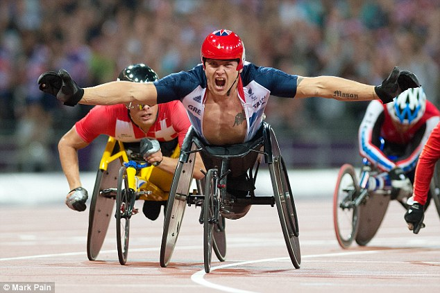 Injury setback: London 2012 champion David Weir has suffered an injury to his arm