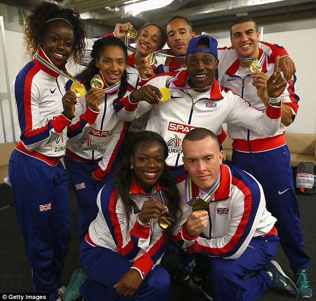 All gold: Britain's sprinters won three events at the European Championships