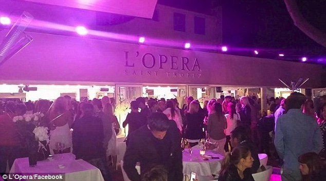 French hotspot: Hours earlier, the three-time Golden Globe nominee and the same woman were seen dancing the night away under the glow of purple neon lights at L'Opera
