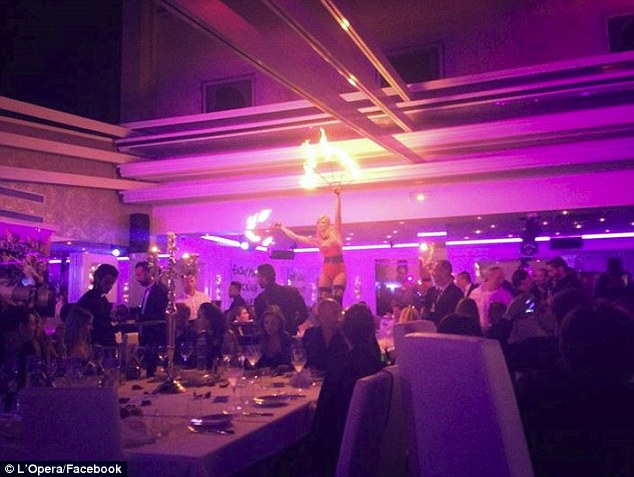 Decisions: Banderas was also seen embracing a blonde in a white dress and a wavy-haired woman in a floral frock at the French restaurant, which boasts fire dancers atop the tables