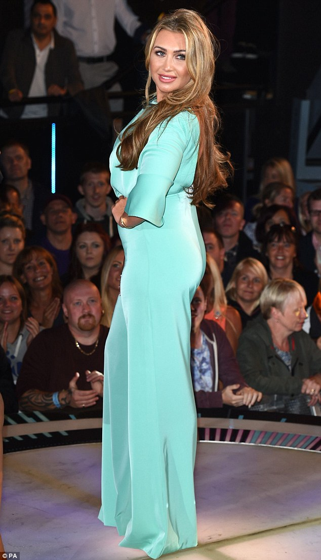 In she goes: Lauren Goodger enters the house in Celebrity Big Brother 2014
