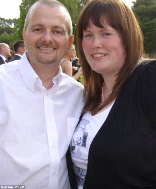 Clair Bartlett, pictured with her husband Jason, was left in agony after her hysterectomy scar burst open hours after her stitches had been removed