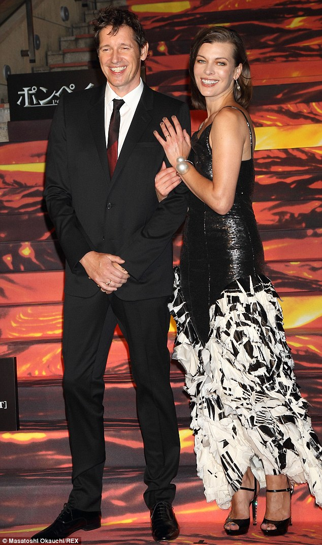Power couple: Paul and Milla all dressed up for the Pompeii film premiere in Tokyo in May